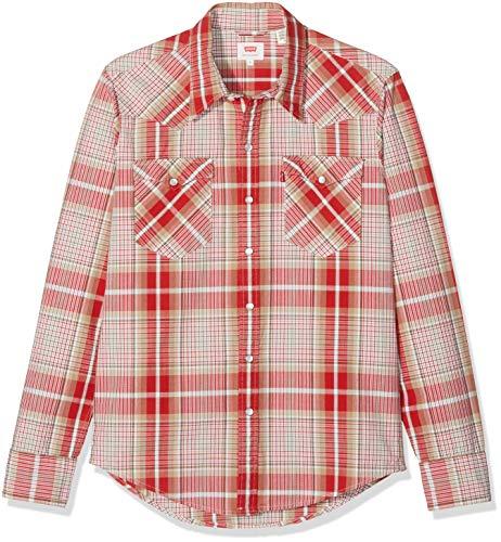 Levi's Camisa Hombre Casual Crema/Rojo S