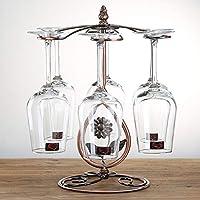ワイングラスラックテーブルトップゴブレットステムウェア乾燥乾燥機スタンドクラシックエレガント飾り棚オーガナイザー自立ディスプレイ (Color : C)
