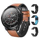 ZStarlite Smart Watch, Reloj Inteligente A Prueba de Agua IP68 para Hombres, Rastreador de Ejercicios de 1.3 Pulgadas con Ritmo Cardíaco, Calorías, Monitor de Sueño, GPS, Podómetro para iOS y Android