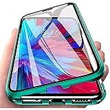 Hülle für Xiaomi Mi 11, Magnetische Adsorption Handyhülle 360 Grad Schutz Aluminiumrahmen mit Gehärtetes Glas, Starke Magneten Stoßfest Metall Flip Hülle Cover - Grün