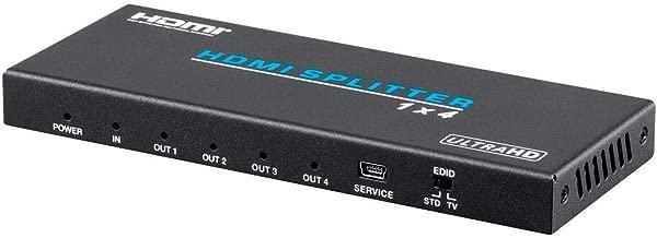 Monoprice Blackbird 4K Pro 1x4 HDMI Splitter with HDCP 2.2 and EDID Support