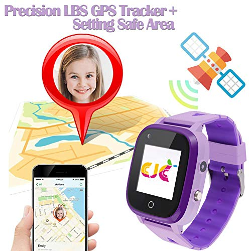 4G Kids Smart Watch,Kids Phone Smartwatch w GPS Tracker,Call,Alarm,Pedometer,Camera,SOS,Touch Screen WiFi Bluetooth Wrist Watch Boys Girsl iPhone iOS Android,3-12 Years Old Children Student Gift