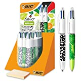 BIC 4 Colours Velours Kugelschreiber mit Giungla und Spitze Media 1.0 mm, 30 Stck