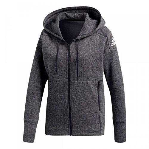 adidas Damen ID Hooded Kapuzen-Jacke, Stadium Heather/Black, XS