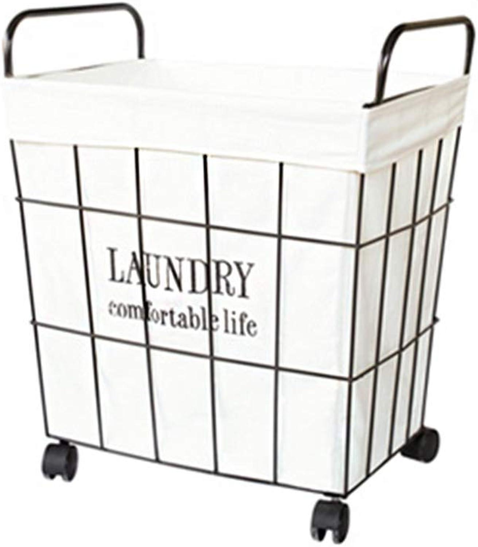 Home DecorAddition Diaper Toy Hamper Dirty Hamper Vintage Wrought Iron Laundry Basket Storage Basket Shopping Basket Toy Basket (Size   Large)