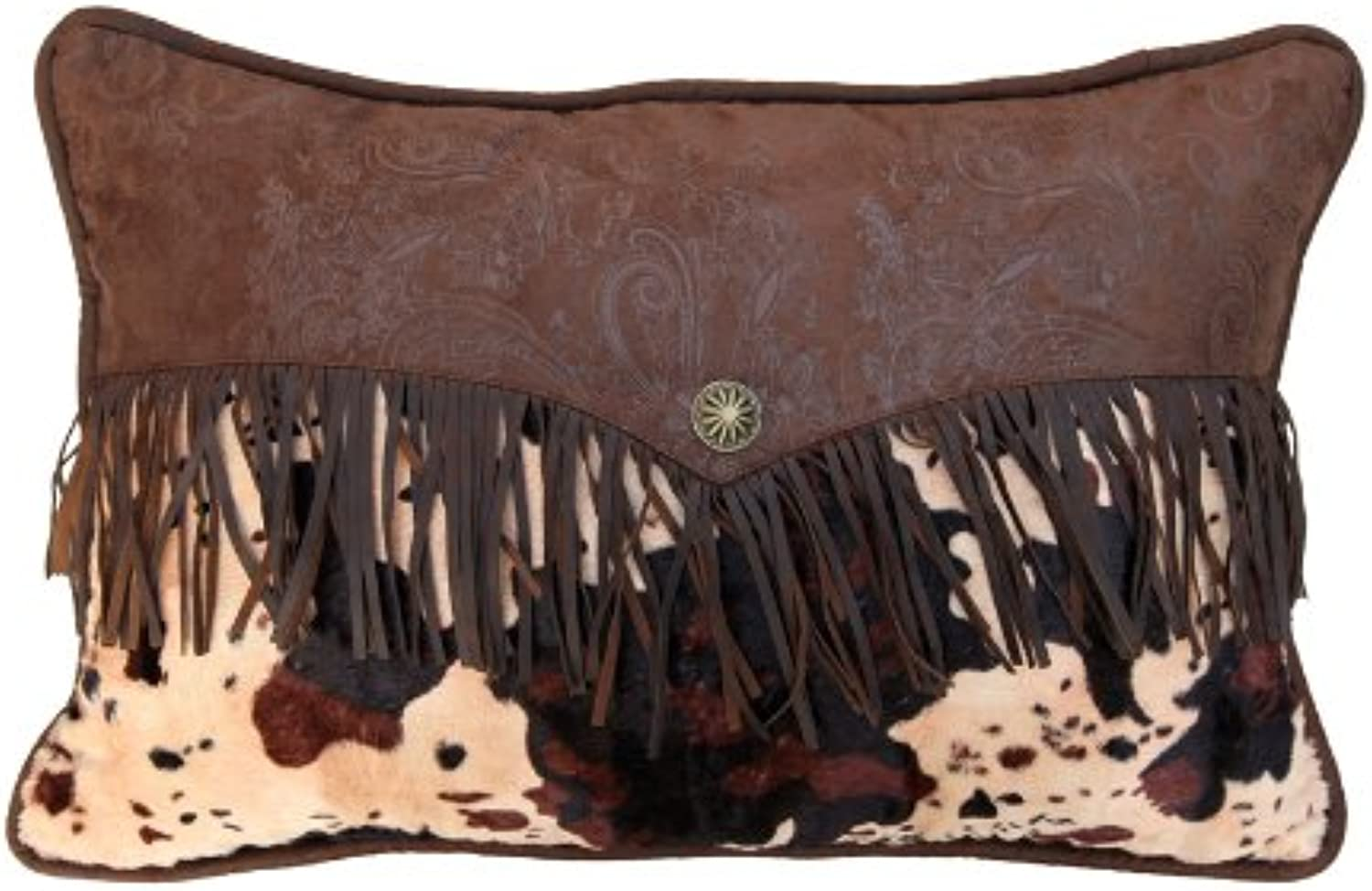 HiEnd Accents Caldwell Western Accent Pillow, Cowhide