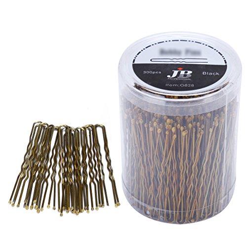 Confezione da 300forcine per capelli a forma di U per chignon con scatola, forcine dorate per capelli