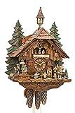 Cuco Clock Coucou Schenker avec chœur de 36 Voix Chantant Un Mouvement de 8 Jours, Horloge Murale, Horloge de la Forêt-Noire, Horloge à Pendule Marron