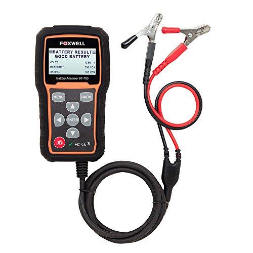 FOXWELL BT705Batterietester für Autos und Startsysteme/Ladesystemefür 12V/24V, inschwarz/orange