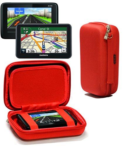 Navitech Étui Rigide/Housse Rouge Compatible avec GPS Auto Compatible avec Tomtom Go Camper Sat Nav