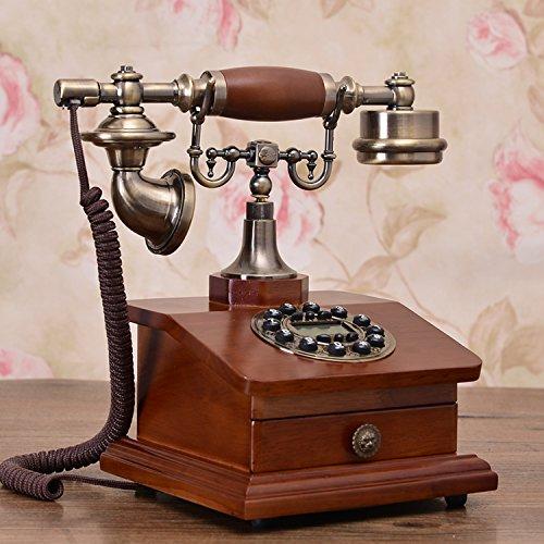 motes uvar Europea estilo madera maciza Teléfono, Teléfono Antiguo, Retro–Teléfono, cajón Tipo de Teléfono, Llamadas–ID