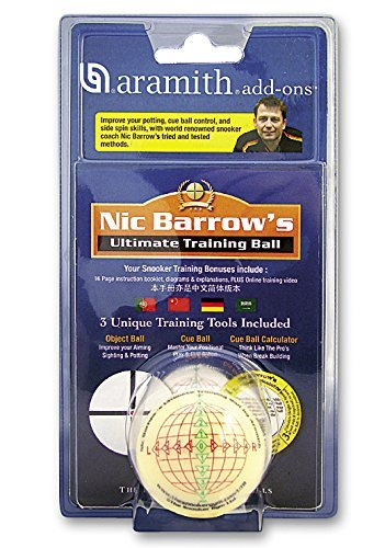Trainingsspiel mit Snooker-Trainingskugel 52,4mm von Aramith
