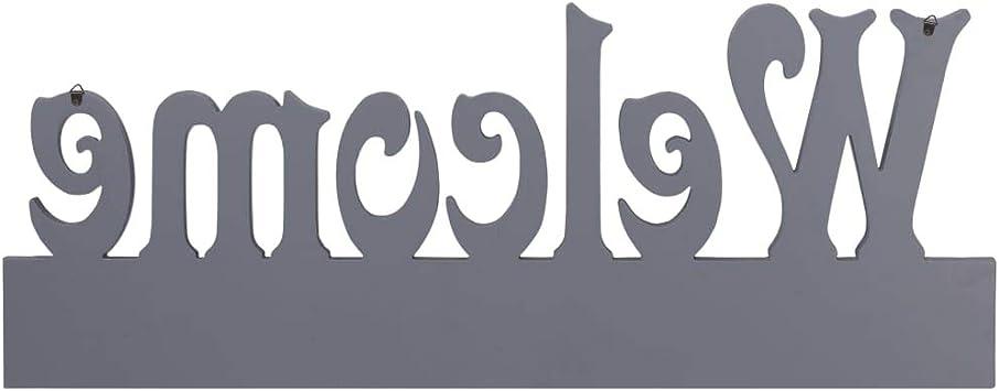 colore: Grigio RIKOJ 74 x 29,5 cm Appendiabiti da parete FAMILY