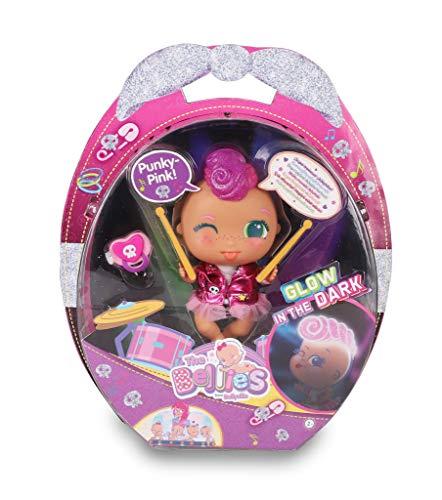 The Bellies - Punky-Pink! Bellie rockero,le encanta la música. Muñeca interactivo para niñas y niños a partir de 3 años(Famosa 700016273)