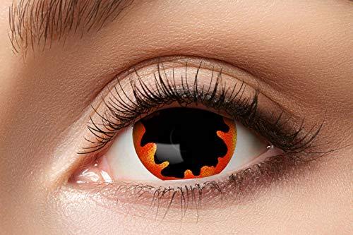 Eyecatcher 84092841.e02 - Farbige Sclera Kontaktlinsen, 1 Paar, für 6 Monate, Schwarz, Karneval, Fasching, Halloween