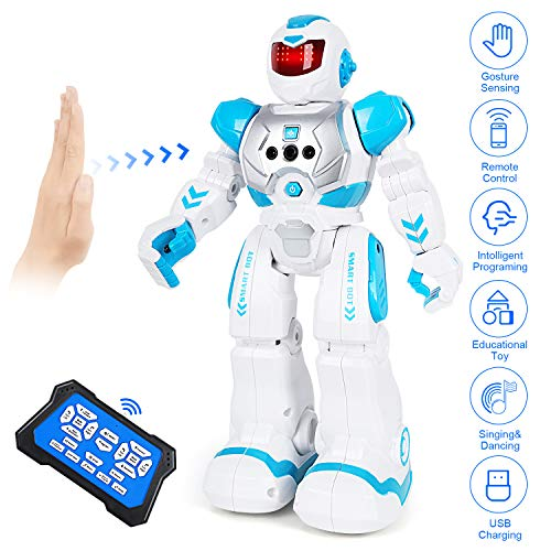 Biulotter RC Robot for Kids Intelligent Programmable Robot with Infrared Controller Toys, Dancing,...