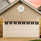 32 Packs 6 x 4 Inches Garage Door Magnetic Panels, Two Car Garage Door Decorative Faux Black Window Decals, Weatherproof Magnets Hardware Metal Garage Door Windows, 2 Car Garage