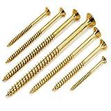 1000 Stück Spanplattenschrauben 3x30 mm galv. verzinkt gelb chromatiert mit Torx, Senkkopf, Teilgewinde und Fräsrippen unter dem Kopf