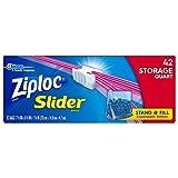 Ziploc Slider Storage Bags Quart 42 ct