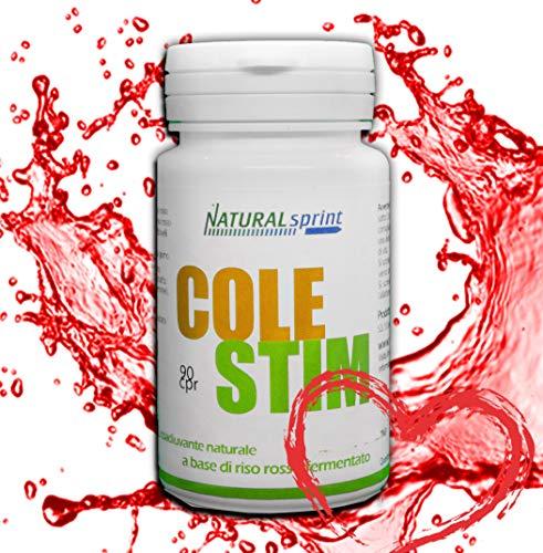 Natural Sprint Integratore Colesterolo di Riso Rosso Fermentato - 90 Compresse Vegan - Made in Italy