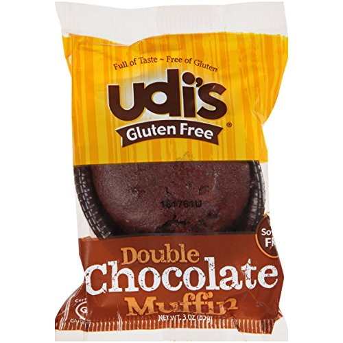Udi's Gluten Free Individually Wrapped Double Chocolate Muffin, 3 oz., Pack of 36