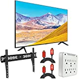 "Samsung UN49RU8000 49' RU8000 LED Smart 4K UHD TV (2019) - (Renewed) Bundle with 37""-100' TV Wall Mount Bracket + 2X 6FT Universal 4K HDMI 2.0 Cable + 6-Outlet Surge Adapter"