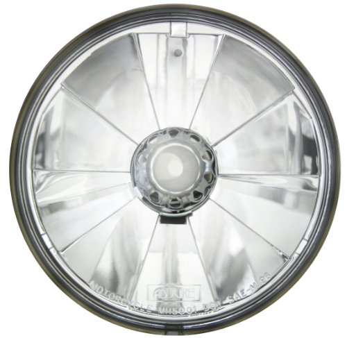 "ADJURE T50700 5-3/4"" Pie Cut Ice Motorcycle Headlight with H4 Bulb"