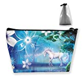 Cute Unicorn Horse Makeup Bag for Purse, Multi-Function Waterproof Travel Cosmetic Toiletry Pouch Coin Purse with Zipper for Girls Holder Pencil Case