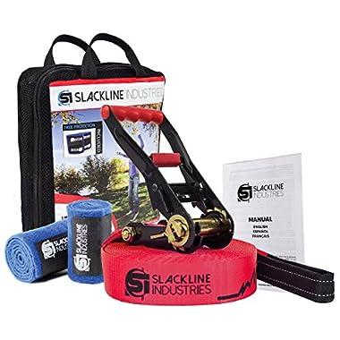 Slackline Industries Base Line Introductory Slackline Kit, 85-Feet