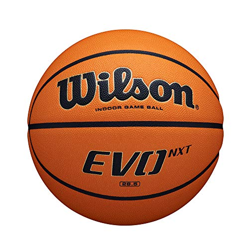 "Wilson Evo NXT Indoor Game Basketball - Official 29.5"""
