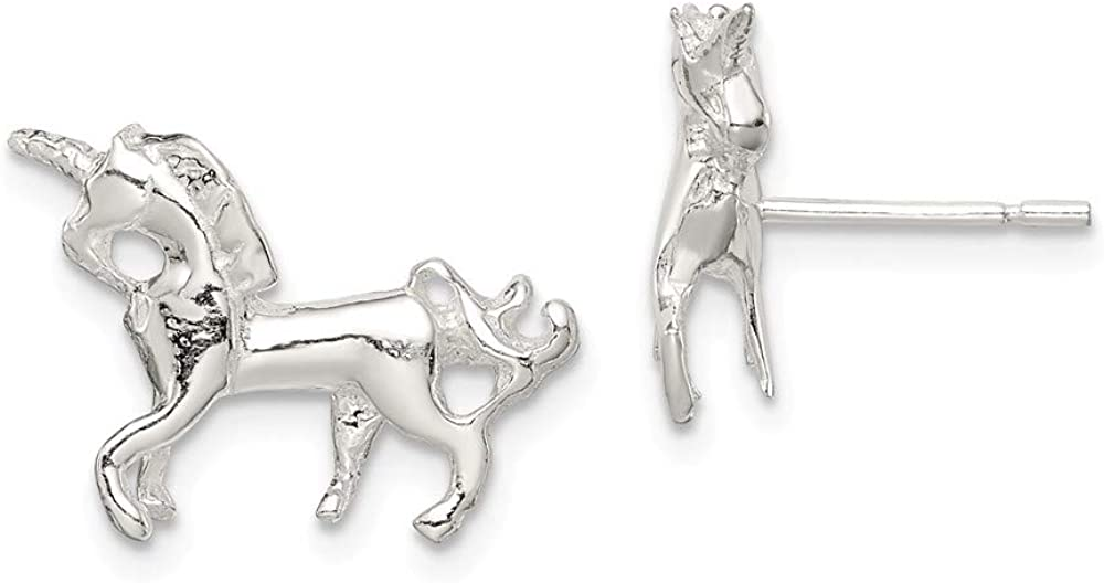 Max 45% OFF Solid 925 Sterling Silver Unicorn Mini 11mm 1 x ! Super beauty product restock quality top! Studs - Earrings