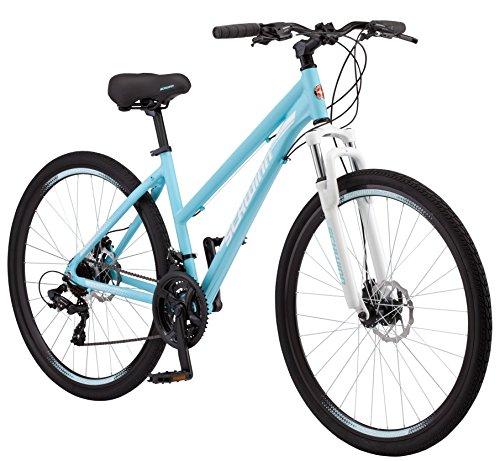 Schwinn GTX 2.0 Comfort Adult Hybrid Bike, Dual Sport Bicycle, 16-Inch Aluminum Frame, Light Blue