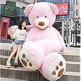 HYAKURIぬいぐるみ 特大 くま/テディベア  可愛い熊 動物 大きい/巨大 くまぬいぐるみ/熊縫い包み/クマ抱き枕/お祝い/ふわふわぬいぐるみ130cm (130cm, ピンク)