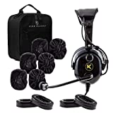 KORE AVIATION KA-1 Premium Gel Ear Seal PNR Pilot Aviation Headset with MP3 Support, Carrying Case, 3 Pack of Cloth Ear Covers, 2 Pack of Gel Ear Seals Bundle