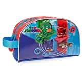 PJ Masks Ready For Action Neceser Dos Compartimentos Adaptable Multicolor 26x16x12 cms Microfibra con frontal en PVC