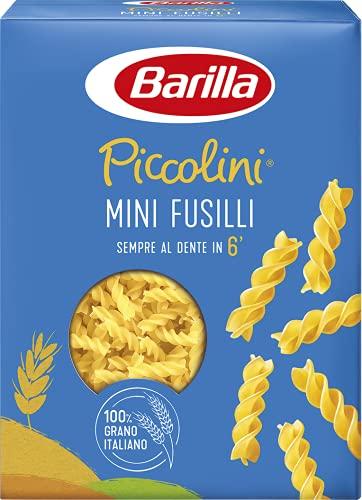Barilla Pasta Mini Fusilli Piccolini, Pasta Corta di Semola di Grano Duro 100% Italiano, 500 gr