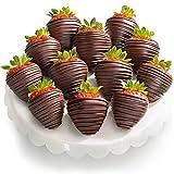 Golden State Fruit 12 Dreamy Dark Chocolate Covered Strawberries