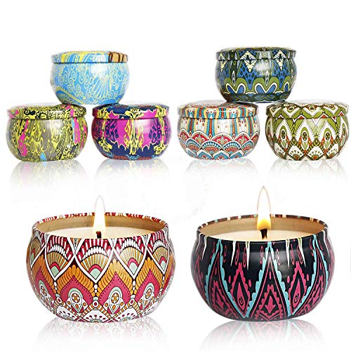 CALLA LILY Aroma Kerzen,8 Stück Duftkerzen Geschenk Set,Natürliches Sojawachs für Aromatherapie, Massage, Stress Abzubauen.Aromatherapie-Kerzen für Weihnachten,Geburtstag, Valentinstag etc