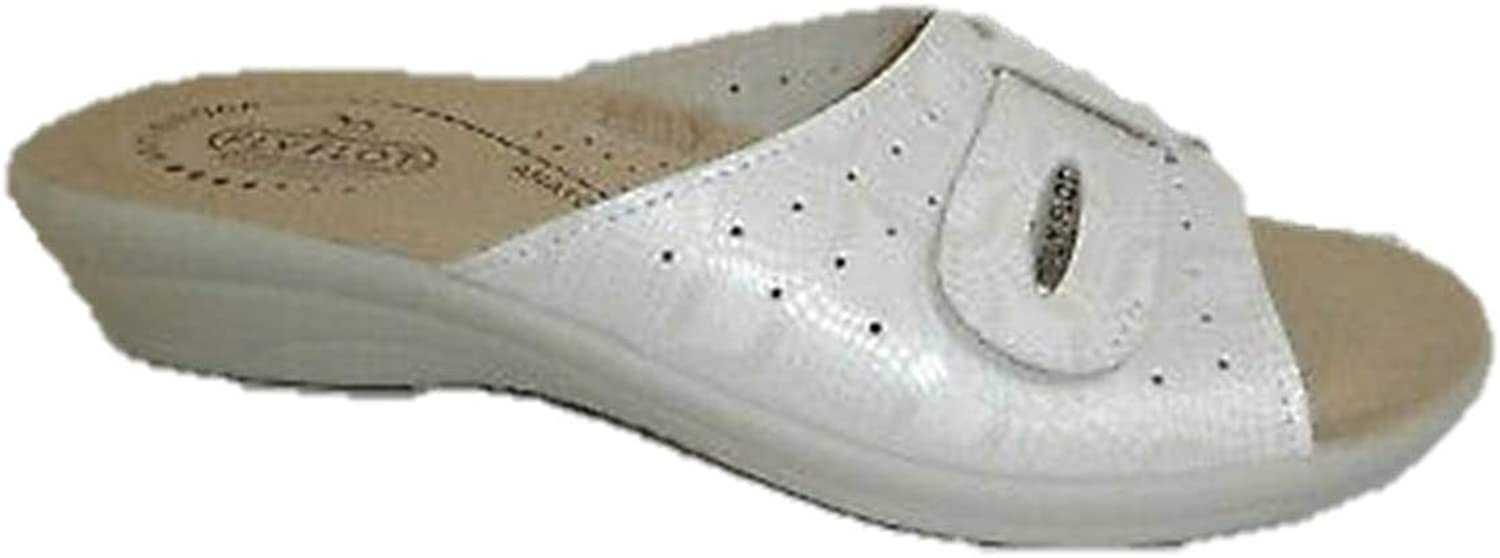 Fly Flot T4A57 Slippers Slippers Skin Woman Wellness Comfort White Made in
