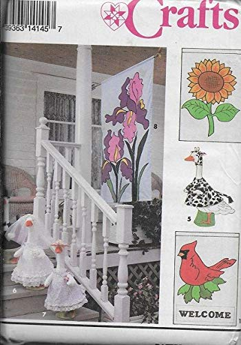 Simplicity 8464 Crafts Sewing Pattern Lawn Geese Clothes and Flags
