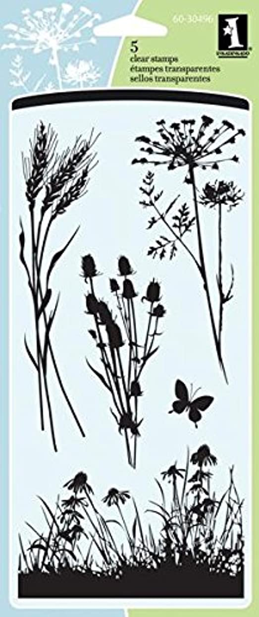 Inkadinkado Meadow Floral Clear Stamp Set, 5 pc