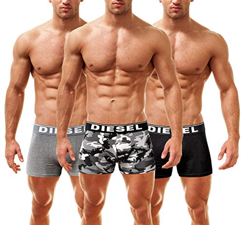 Diesel Boxer de Caballero Shawn Single Pack Seasonal Edition Damian Lipstick, blanco, Medium