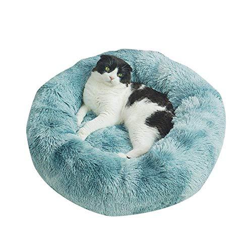 YYhkeby Zwinger Haustier Hund Katze Bett-Haus weich rund Hundebett warme Lange Plüsch-Welpen-Kissen Nest Bequeme Hundekatze-Haus-Matten-C_60cm, G, 60cm Jialele ( Color : H , Size : 80cm )