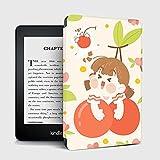 YMXCNM Funda para Kindle - Cherry Girl Slim Smart E-Book Case para Amazon Kindle Paperwhite 4 Cover 2018 10 Generation Auto Wake/Sleep Shell para Paperwhite 1/2/3 Capa, para Pq94Wif