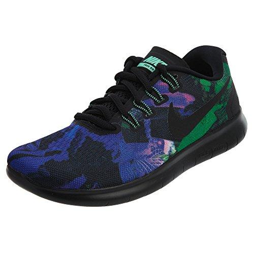 Nike Free RN 2017Solstice Unidad Zapatos Mujer, Negro/Verde
