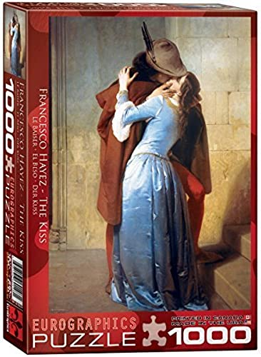 Eurographics the Kiss by Francesco Hayez Puzzle (1000 Pieces) by Eurographics