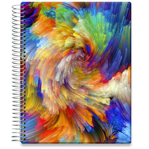 Tools4Wisdom Daily Planner 2021-2022 - April 2021 to June 2022 Calendar - 8.5 x 11 Hardcover - Full-Color - Academic Planner - Vertical Weekly Planner Layout - Q2S15 - Colorsplash