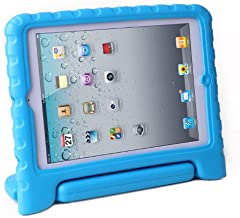 HDE Kids Case for iPad Mini 2 3 -Shock Proof Rugged Heavy Duty Impact Resistant Protective Cover Handle Stand for Apple iPad Mini 1 2 3 Retina (Blue)