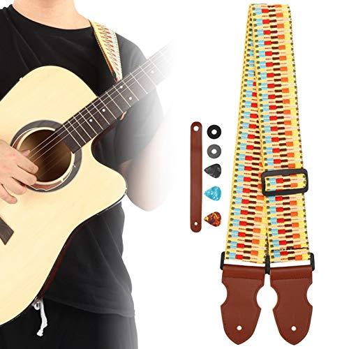 Correa de hombro suave para amantes de los músicos para guitarras acústicas eléctricas