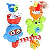 GOODLOGO Bath Toys Bathtub Toys for 2 3 4 Year Old Kids Toddlers Bath Wall Toy Waterfall Fill Spin and Flow Non Toxic Birthday Gift Ideas Color Box (Multicolor)